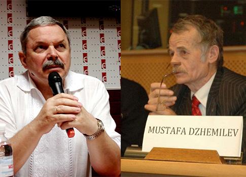 Myroslav Marynovych and Mustafa Dzhemilev / Wikimedia Commons
