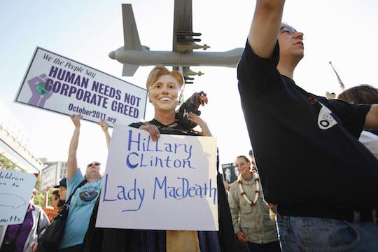 Anti-Clinton protester. (AP)