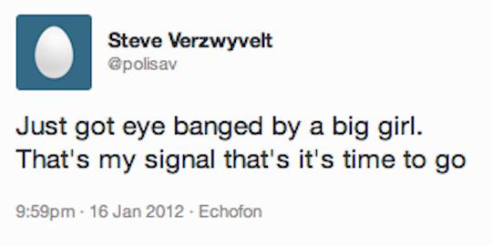 Eye banged