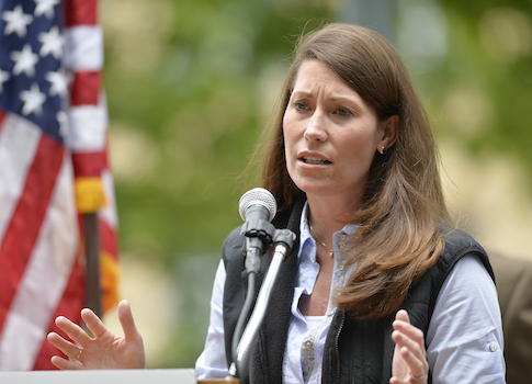 Kentucky Democratic Senate candidate Alison Lundergan Grimes / AP
