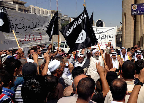ISIL demonstrators in Iraq / AP
