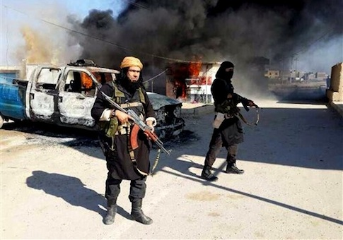 Al Qaeda linked militants in Iraq's Anbar Province / AP