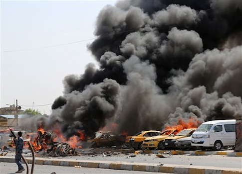 A series of bombs hit the Shiite stronghold of Sadr City in Baghdad, Iraq / AP