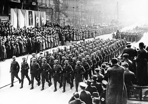Nazi infantry march into Czech Republic, March 19, 1939 / AP