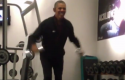 Obama working out