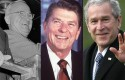 Presidents Harry Truman, Ronald Reagan, and George W. Bush / AP