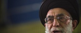 Iran's Supreme Leader Ayatollah Ali Khamenei speaks live on television after casting his ballot in the Iranian presidential election in Tehran