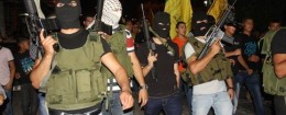 Hamas affiliates rally in the West Bank / AP