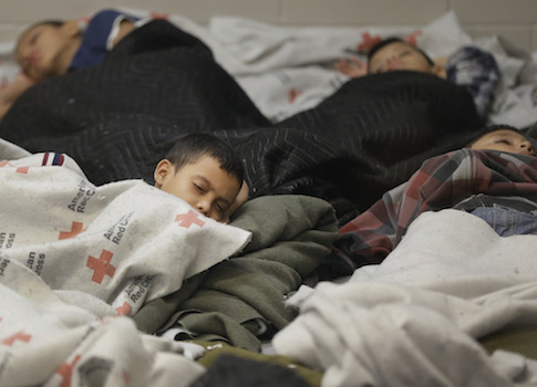 Immigrant children held at a U.S. Customs and Border Protection facility / AP