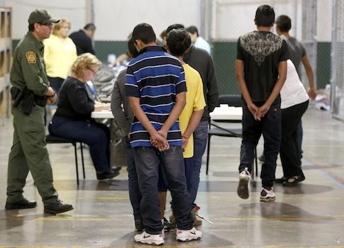 Unaccompanied alien children at a holding center in Arizona / AP