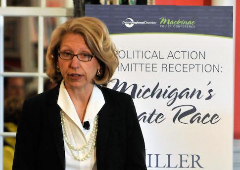 Former Michigan Secretary of State Terri Lynn Land / AP
