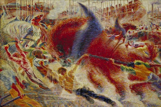 The City Rises by Umberto Boccioni