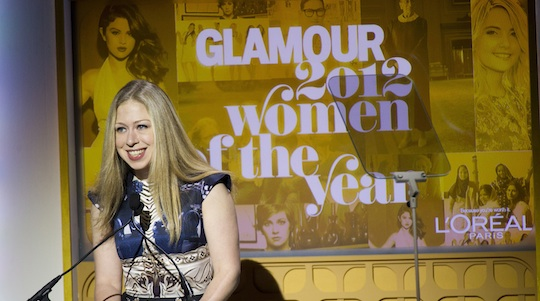 Chelsea Clinton appears onstage at the Glamour Women of the Year Awards in 2012 / AP