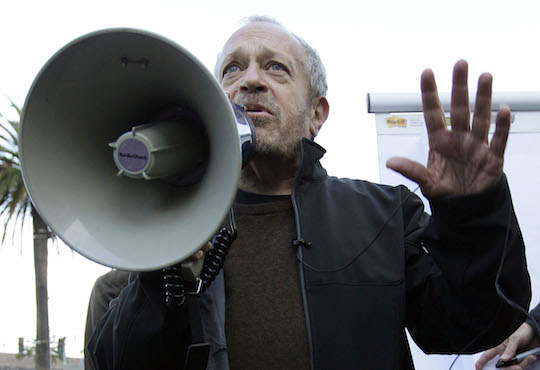 Robert Reich speaks at an Occupy Wall Street rally, back when that was a still a thing. (AP)