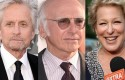 Michael Douglas, Larry David, and Bette Midler / AP