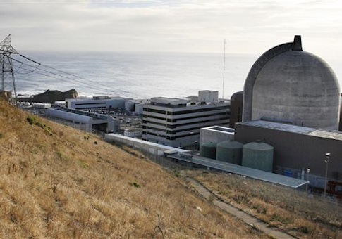 one of Pacific Gas and Electric's Diablo Canyon Power Plant's nuclear reactors in Avila Beach on California's central coast