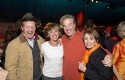 Tom Steyer and his wife Kat Taylor with Paul and Nancy Pelosi at the Golden Gate Bridge 75th Anniversary celebration / Drew Altizer Photography