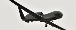 A U.S. Global Hawk surveillance drone