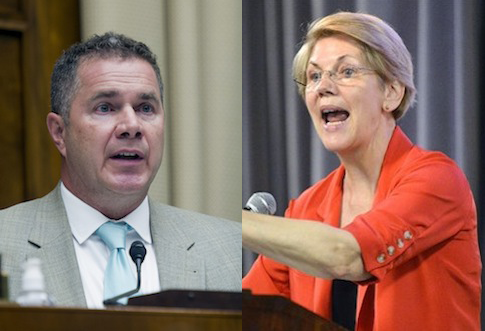 Bruce Braley, Elizabeth Warren / AP