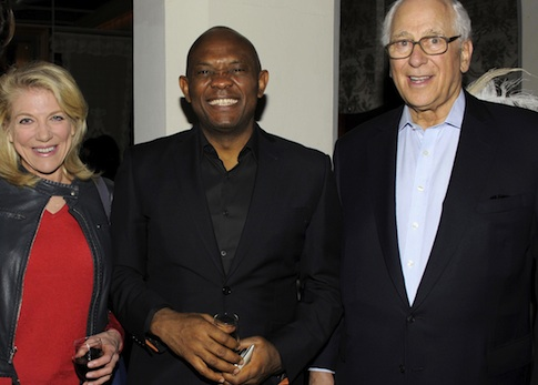 Tony Elumelu along with Lynn Forester de Rothschild and Sir Evelyn Robert de Rothschild / AP