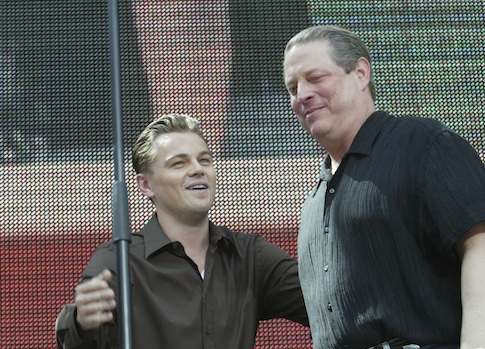 Leonardo Dicaprio and Al Gore together for Earth Day in 2007 / AP
