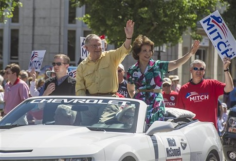 Sen. Mitch McConnell (R.,Ky.) and his wife, Elaine Chao / AP