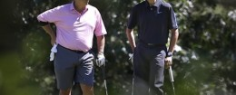 Robert Wolf and President Obama golf on Martha's Vineyard / AP