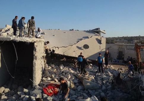 A U.S. airstrike against the al Qaeda group Khorason in Kafr Daryan in northwestern Syria
