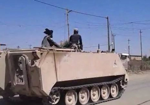 A U.S. armored vehicle captured by ISIL