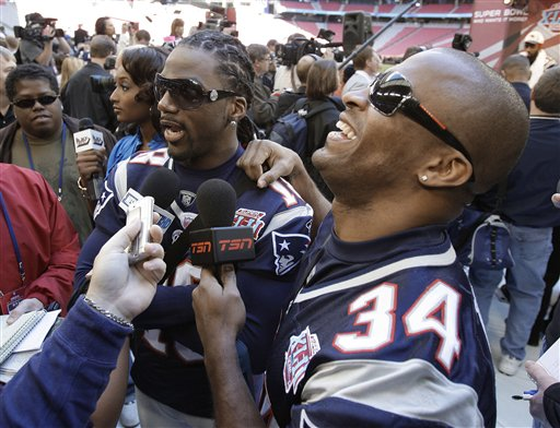 Stallworth (Left) in better spirits/AP