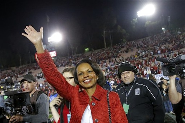 Former Secretary of State Condoleezza Rice at the Rose Bowl / AP