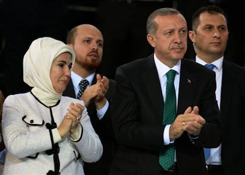 Emine and Recep Tayyip Erdogan