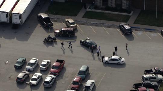 Scene outside Oklahoma beheading attack / KFOR