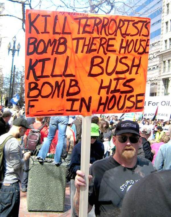 Threats Against Bush At Protests
