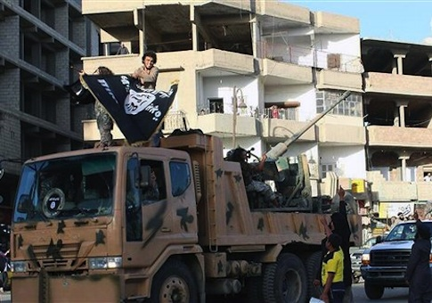 Fighters from ISIL during a parade in Syria
