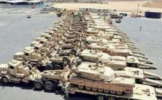 ISIL shows off captured U.S. tanks
