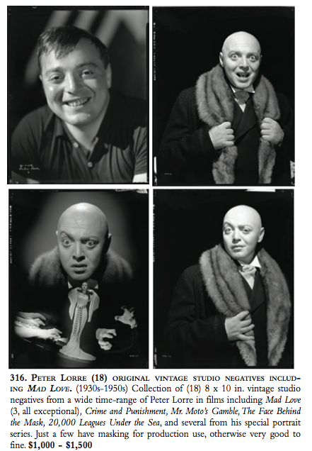 Peter Lorre Auction