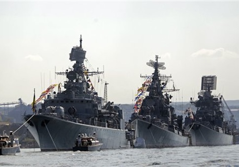 Russian warships in the Black Sea