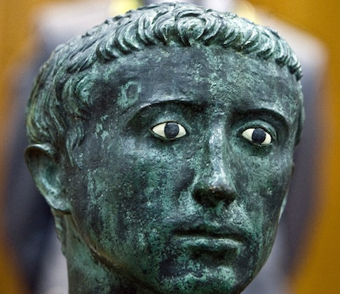 A bronze bust of Roman emperor Augustus / AP