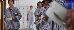 Nurses at a Chinese psychiatric hospital in Zouping county / AP