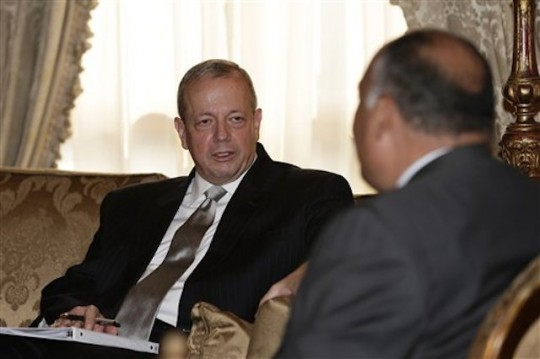 John Allen with the Egyptian Foreign Minister / AP
