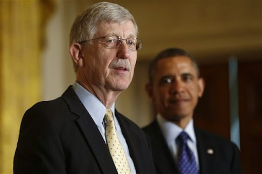 NIH Director Francis S. Collins, with President Obama