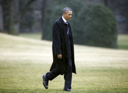 Obama, one of last night's losers, hears the sad Charlie Brown music when he walks (AP)