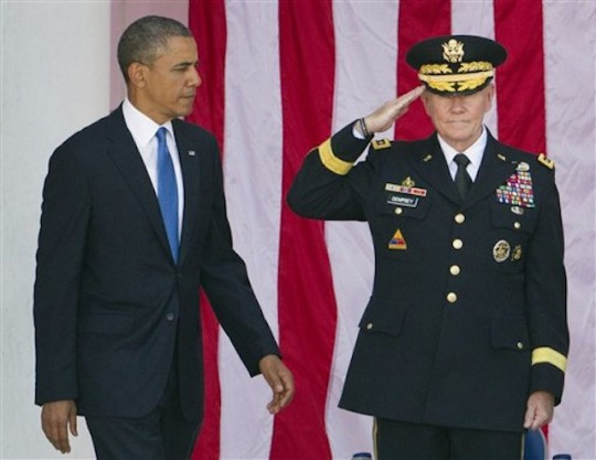 Barack Obama, Martin Dempsey, Chuck Hagel