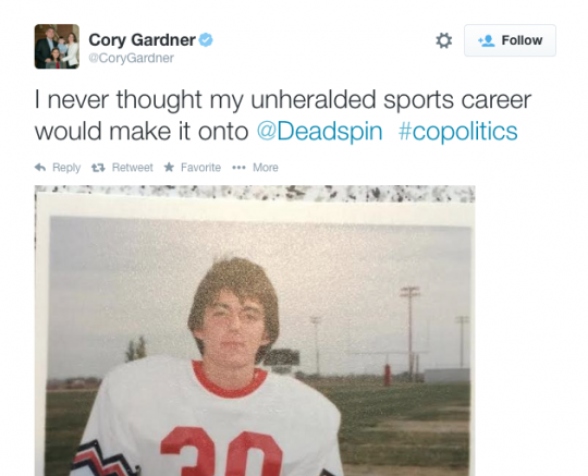 Cory Gardner football