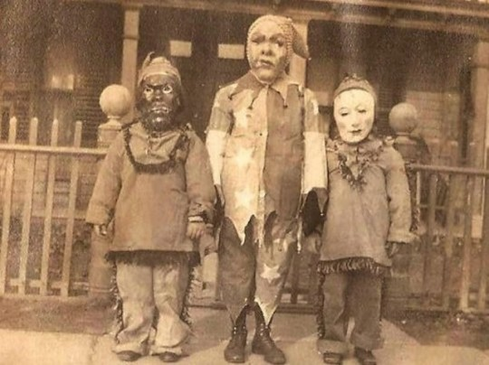 A young Biff Diddle (right) celebrates Halloween.