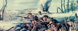 Woolf's painting of a scene during WWI. / Defense News