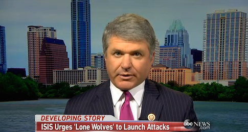 "Rep. Michael McCaul (R., Texas) on ABC's ""This Week"""