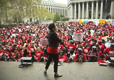 Don't Steal Possible rally in Brooklyn, N.Y. / AP
