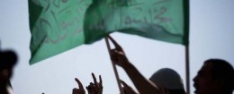 Arab protesters wave Islamic flags in front of the U.S. embassy in Tel Aviv, Israel / AP
